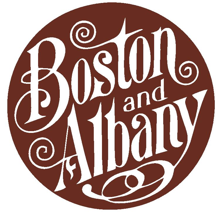 Boston & Albany Railroad Sticker / Decal R4627 Railway Train