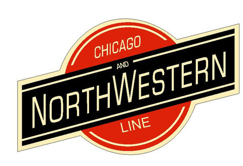 Chicago & Northwestern Railroad Sticker Decal R4910 Railway Train Sign