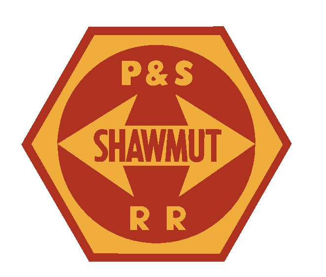 Pittsburg and Shawmut Railroad Sticker Decal R4649 Railway Train