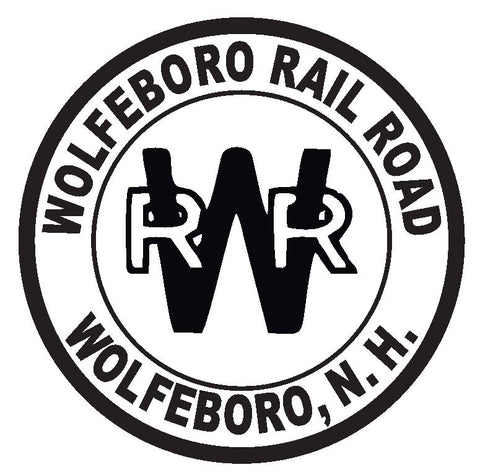 Wolfeboro Railroad Sticker Decal R4665 Railway Railroad Train Sign New Hampshire