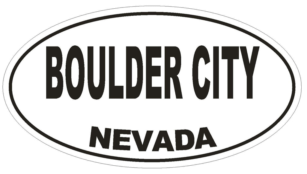 Boulder City Nevada Oval Bumper Sticker or Helmet Sticker D2889 Euro Oval - Winter Park Products