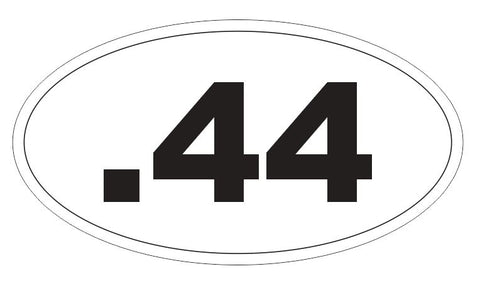 .44 Magnum Oval Bumper Sticker or Helmet Sticker D3756 Euro Oval Guns Weapons