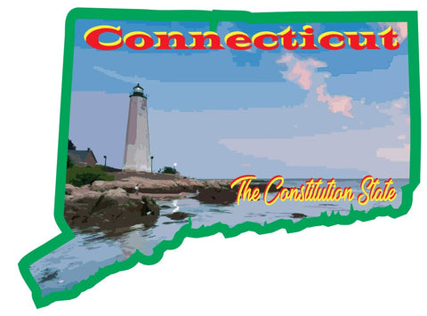 Connecticut Sticker Decal R7023