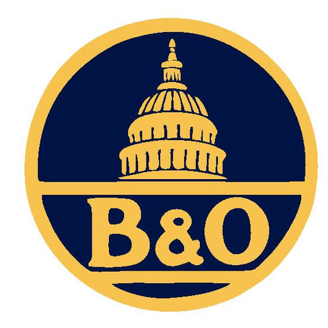 B & O Baltimore & Ohio Railroad Sticker Decal R4906 Railway Train Sign