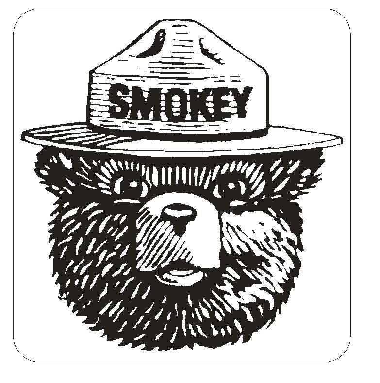Forest Service Smokey The Bear Sticker Decal M146 - Winter Park Products