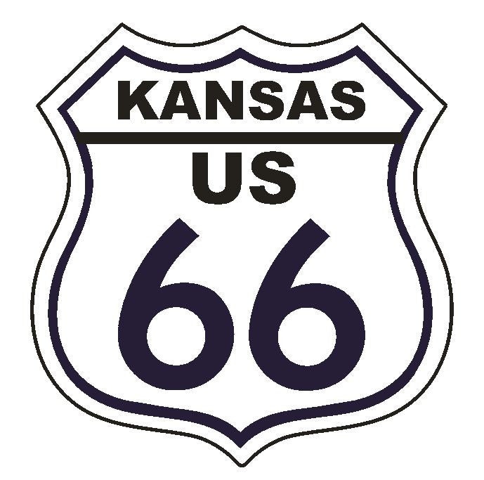 Kansas RT 66 Route 66 Sticker MADE IN THE USA D2885 - Winter Park Products