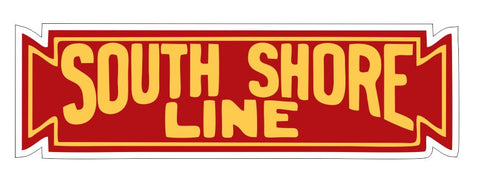 Chicago South Shore & South Bend Railroad Sticker Decal R6989 Rail Train Sign