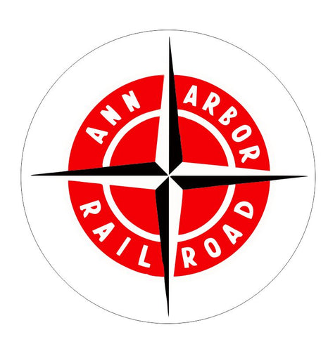 Ann Arbor Railroad Sticker Decal R7011 Railway Train Sign