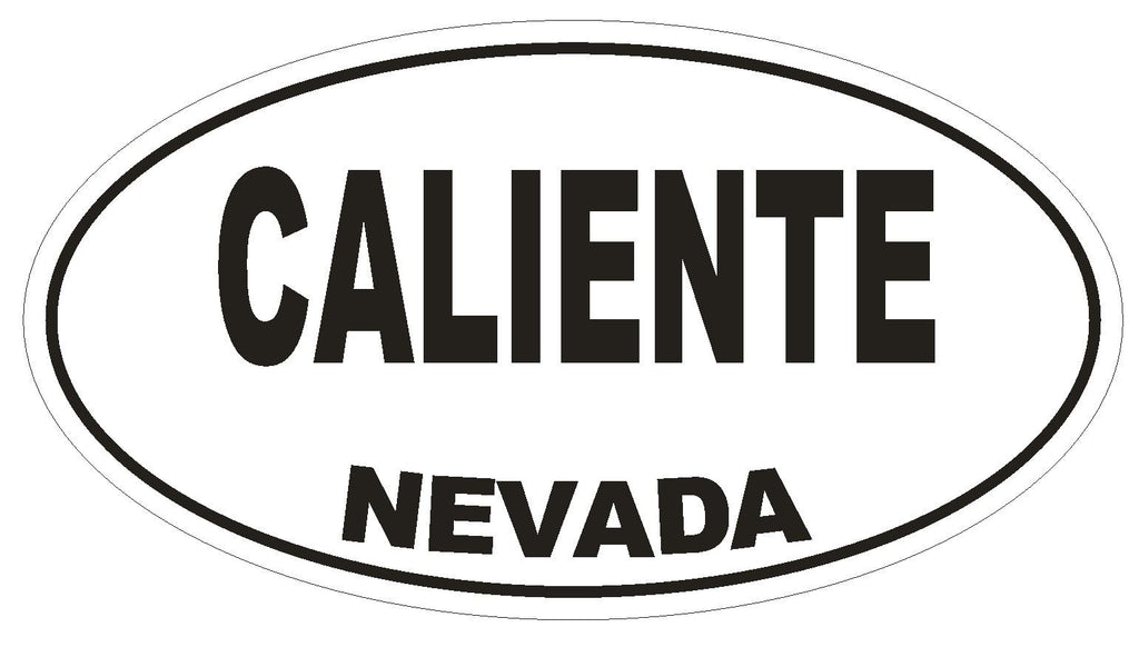 Caliente Nevada Oval Bumper Sticker or Helmet Sticker D2898 Euro Oval - Winter Park Products