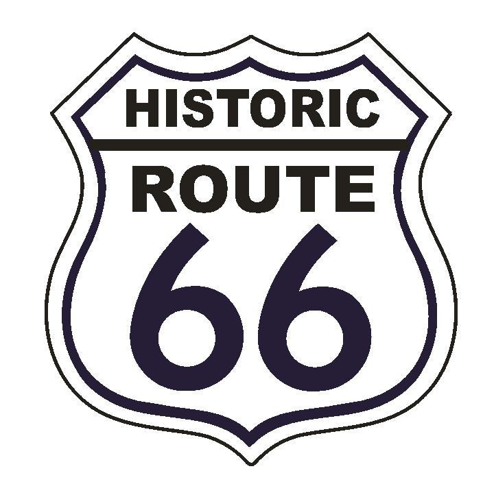 Historic RT 66 Route 66 Sticker MADE IN THE USA D2879 - Winter Park Products