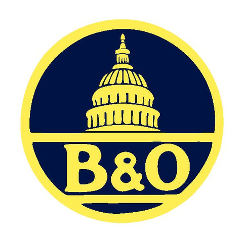 B & O Baltimore & Ohio Railroad Sticker Decal R4907 Railway Train Sign
