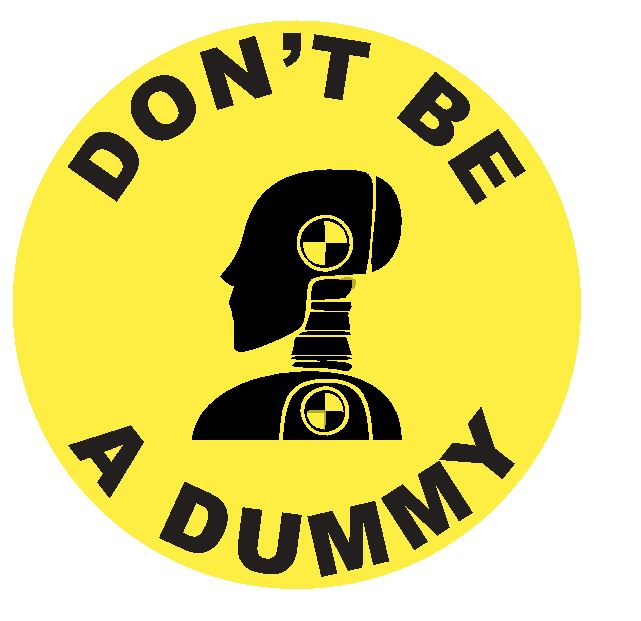 Crash Test Dummy Sticker Decal R4641 Dont Be A Dummy Crash Test