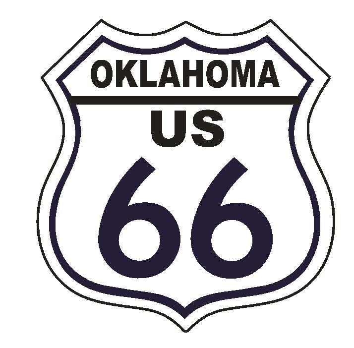 Oklahoma RT 66 Route 66 Sticker MADE IN THE USA D2883 - Winter Park Products