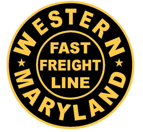 Western Maryland Railroad Sticker R4617 Fast Freight Line Train