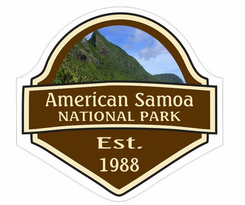American Samoa National Park Sticker Decal R2679 YOU CHOOSE SIZE