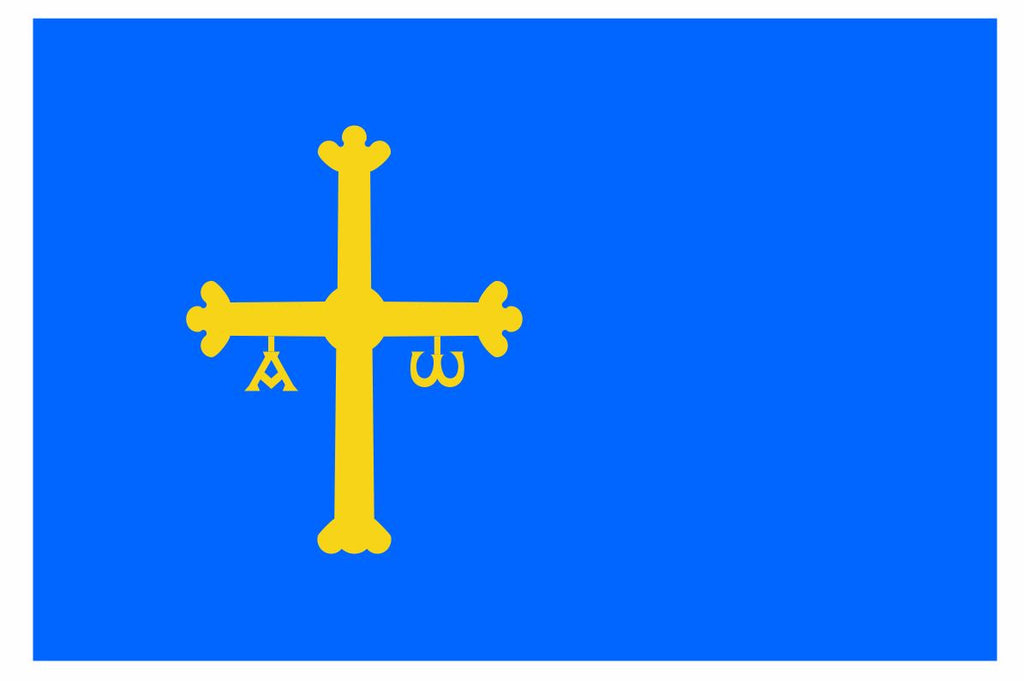 ASTURIAS Flag Vinyl International Flag DECAL Sticker MADE IN USA F37 - Winter Park Products