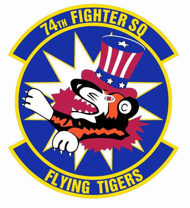 74th Fighter Squadron Sticker M624 YOU CHOOSE SIZE Flying Tigers