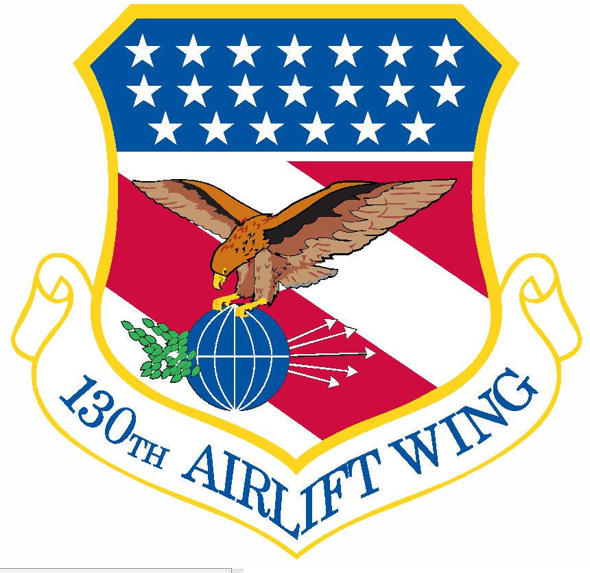 130th Airlift Wing Sticker Military Decal M417 - Winter Park Products
