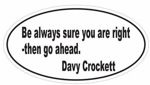 Pack of 100 Davy Crockett Oval Stickers - Winter Park Products