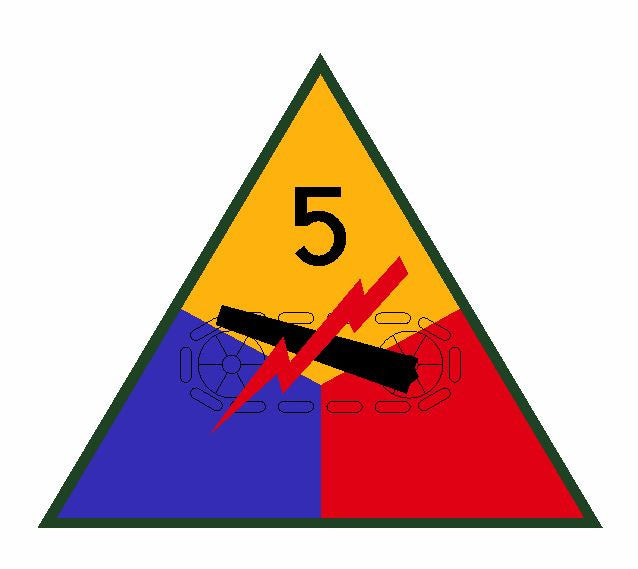 5th Armored Division Sticker Military Decal M354 - Winter Park Products