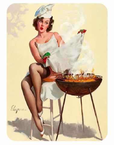 Vintage Style Pin Up Girl Sticker P105 Pinup Girl Sticker - Winter Park Products