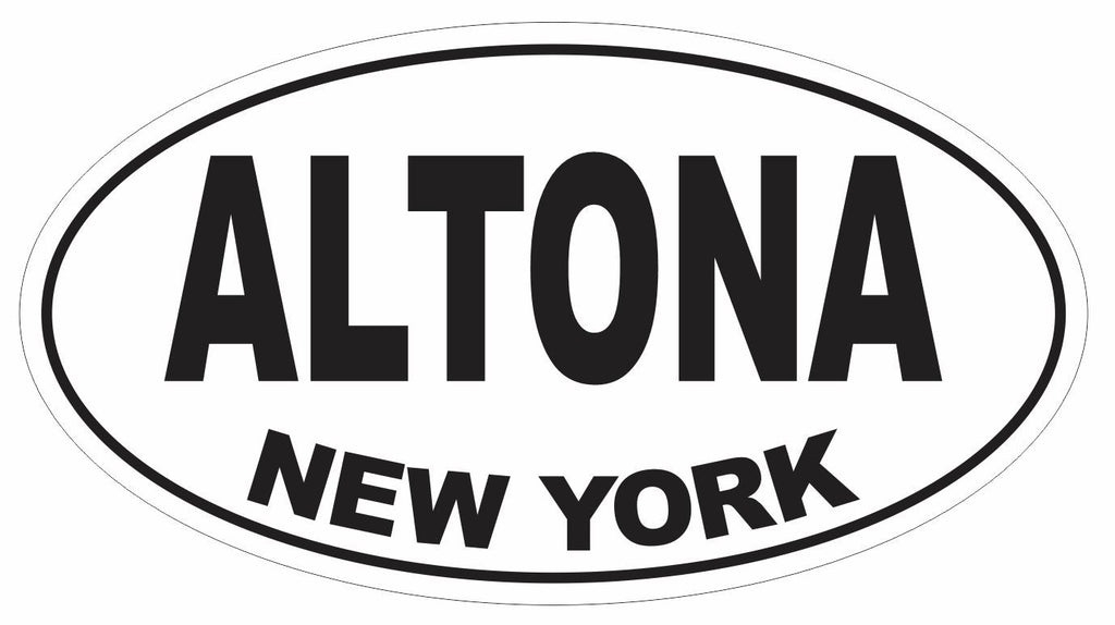Altona New York Oval Bumper Sticker or Helmet Sticker D3072 Euro Oval - Winter Park Products