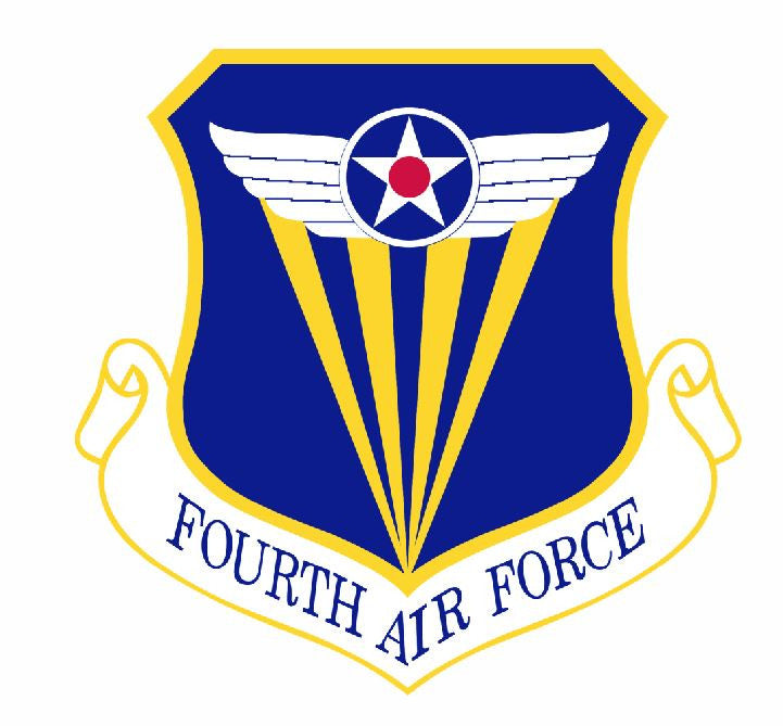 4th Air Force Sticker Military Decal M408 - Winter Park Products