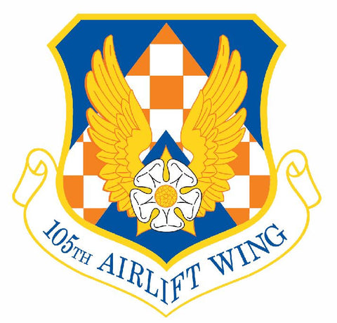 105th Airlift Wing Sticker Military Decal M429 - Winter Park Products