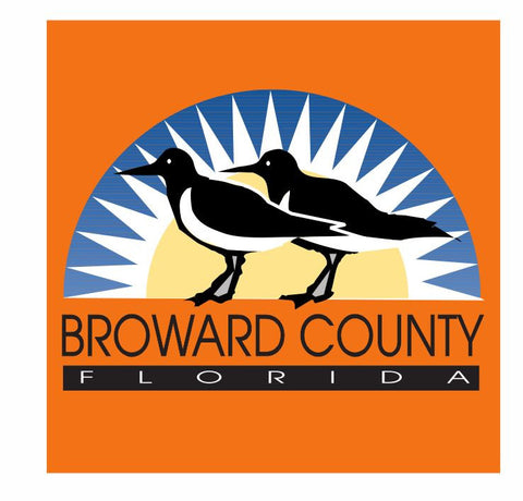Broward County Florida Sticker Decal R822 - Winter Park Products