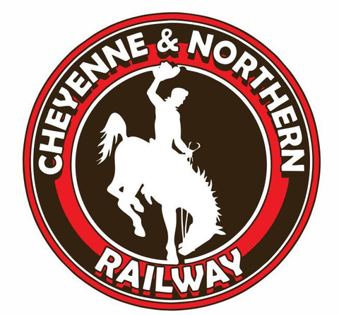 Cheyenne & Northern Railway Sticker Decal R1074 Railroad - Winter Park Products