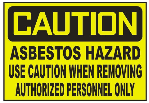 Caution Asbestos Hazard Use Caution Sticker Safety Sticker Sign D731 OSHA - Winter Park Products