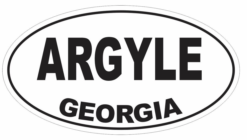Argyle Georgia Oval Bumper Sticker or Helmet Sticker D2988 Euro Oval - Winter Park Products