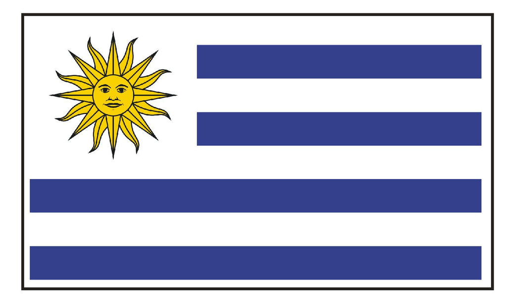 URUGUAY Vinyl International Flag DECAL Sticker MADE IN THE USA F539 - Winter Park Products