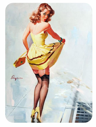 Vintage Style Pin Up Girl Sticker P117 Pinup Girl Sticker - Winter Park Products