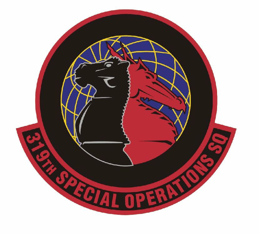 319th Special Operations Squadron Sticker Military Decal M416 - Winter Park Products