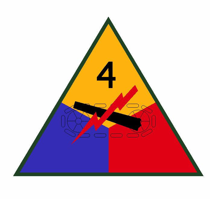 4th Armored Division Sticker Military Decal M353 - Winter Park Products