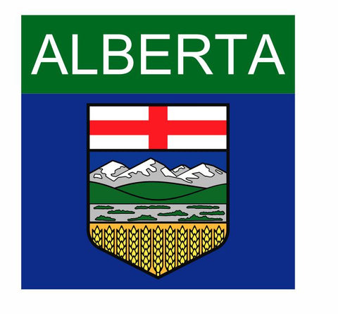Alberta Canada Sticker Decal R824 - Winter Park Products
