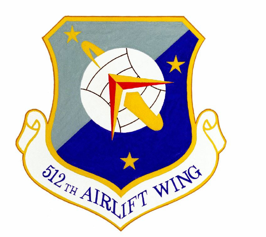 512th Airlift Wing Sticker Military Decal M419 - Winter Park Products