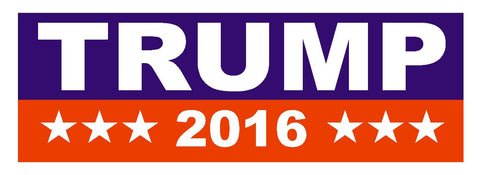 DONALD TRUMP 2016 TRUMP FOR PRESIDENT BUMPER STICKER or Helmet Sticker D820 - Winter Park Products