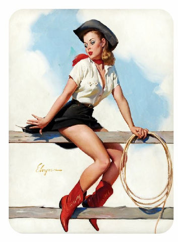 Vintage Style Pin Up Girl Sticker P112 Pinup Girl Sticker - Winter Park Products