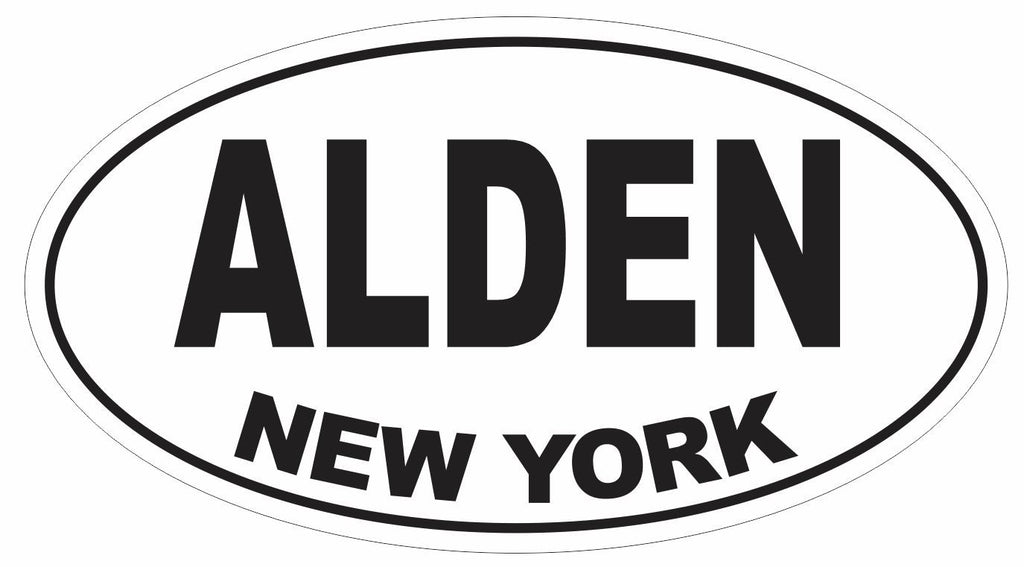 Alden New York Oval Bumper Sticker or Helmet Sticker D3067 Euro Oval - Winter Park Products