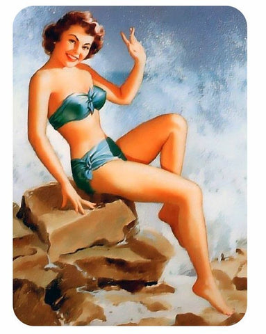 Vintage Style Pin Up Girl Sticker P102 Pinup Girl Sticker - Winter Park Products