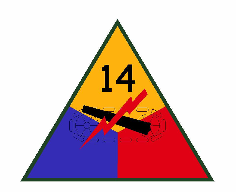 14th Armored Division Sticker Military Decal M363 - Winter Park Products
