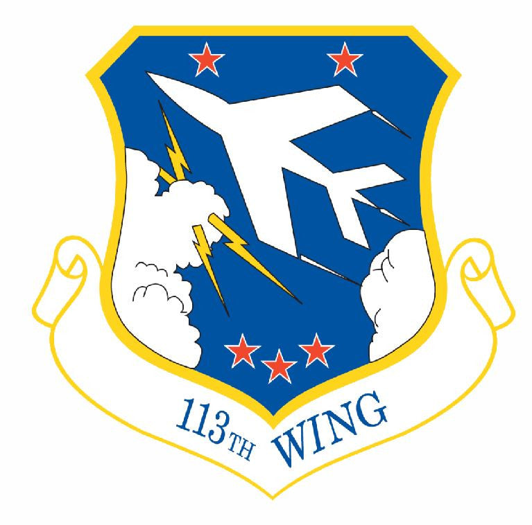 113th Wing Sticker Military Decal M436 - Winter Park Products