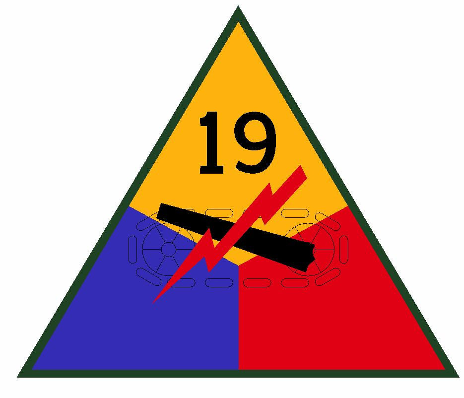19th Armored Division Sticker Military Decal M366 - Winter Park Products