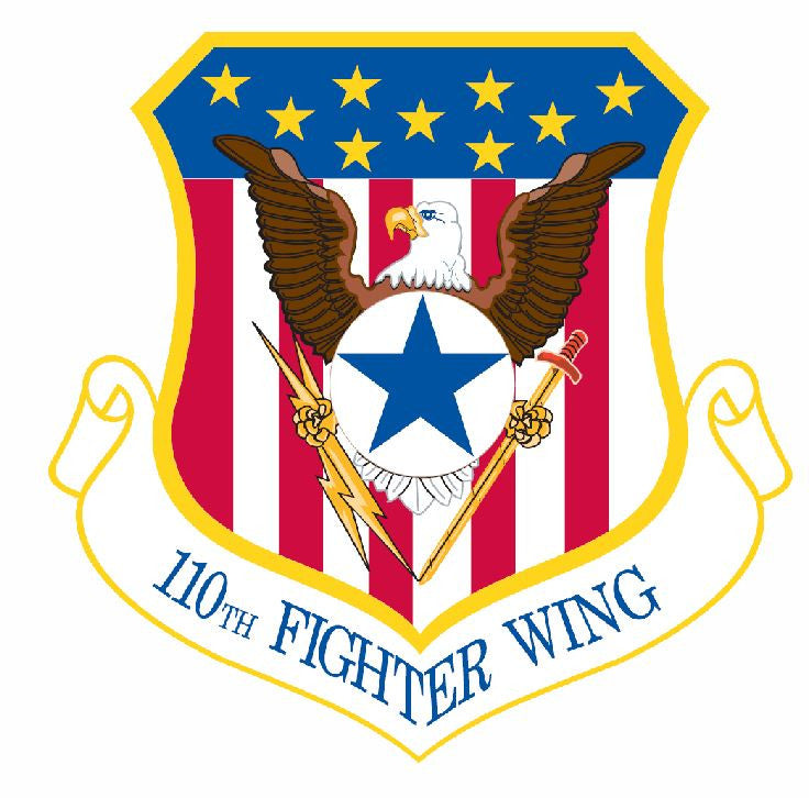 110th Fighter Wing Sticker Military Decal M434 - Winter Park Products