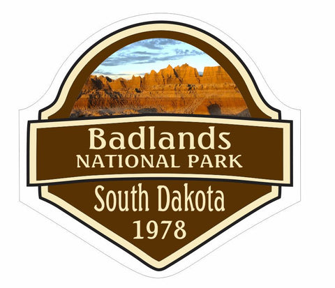 Badlands National Park Sticker Decal R837 - Winter Park Products