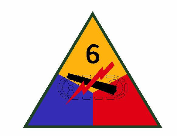 6th Armored Division Sticker Military Decal M355 - Winter Park Products