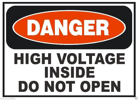 Danger Multiple Energy Sources Sticker Decal D3093 Electrical Electrician