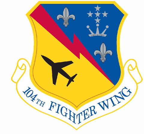 104th Fighter Wing Sticker Military Decal M428 - Winter Park Products